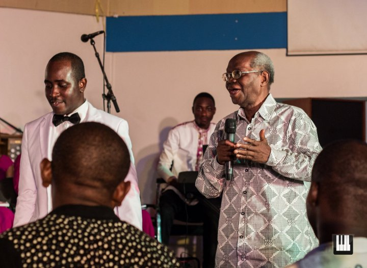 Alfred Patrick Addquay and Professor Nketia at the British Council